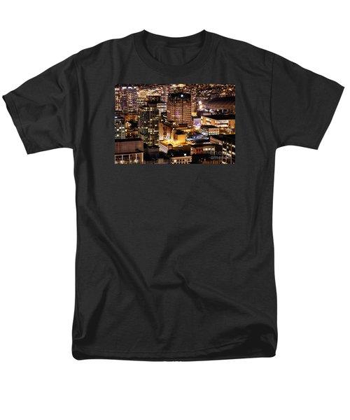 Men's T-Shirt  (Regular Fit) featuring the photograph Metropolis Vancouver Mdccxv  by Amyn Nasser