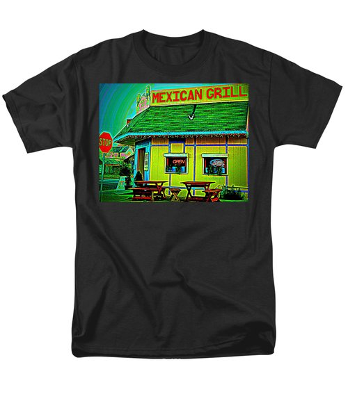 Mexican Grill Men's T-Shirt  (Regular Fit) by Chris Berry