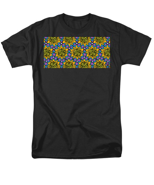 Men's T-Shirt  (Regular Fit) featuring the digital art Mexican Sun / African Violet by Elizabeth McTaggart