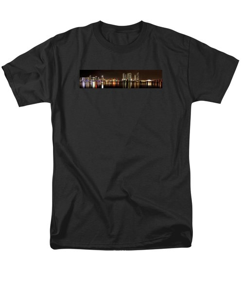 Miami - Skyline Panorama Men's T-Shirt  (Regular Fit) by Brendan Reals