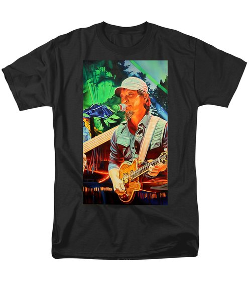 Men's T-Shirt  (Regular Fit) featuring the painting Michael Kang At Horning's Hideout by Joshua Morton