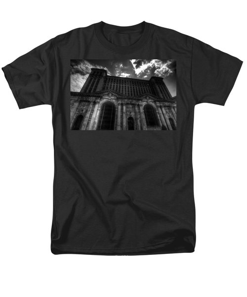 Michigan Central Station Highrise Men's T-Shirt  (Regular Fit) by Jonathan Davison