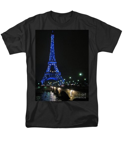 Men's T-Shirt  (Regular Fit) featuring the photograph Midnight Blue by Suzanne Oesterling