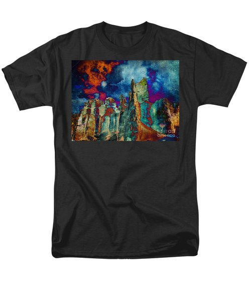 Midnight Fires Men's T-Shirt  (Regular Fit) by Meghan at FireBonnet Art
