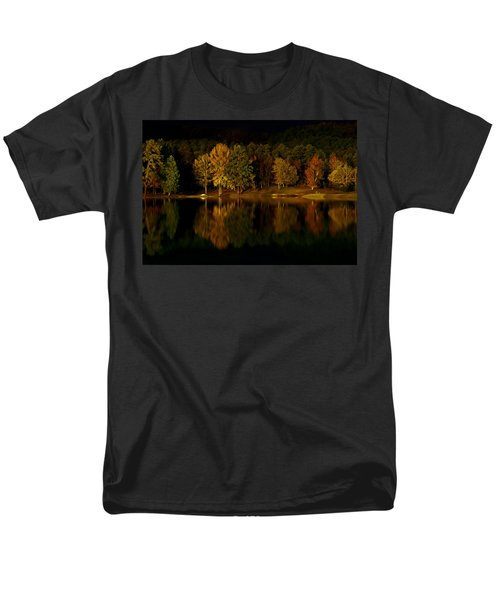 Midnight On The Lake Men's T-Shirt  (Regular Fit) by Linda Unger