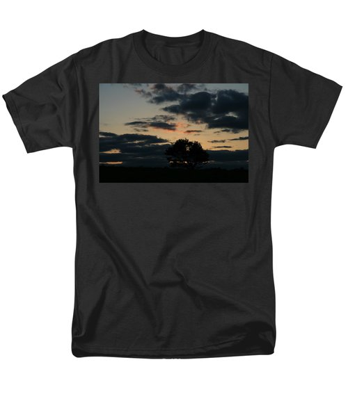 Men's T-Shirt  (Regular Fit) featuring the photograph Farm Pasture Midnight Sun  by Neal Eslinger