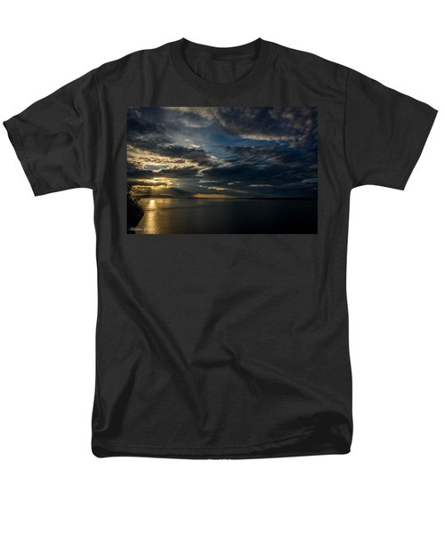 Midnight Sun Over Cook Inlet Men's T-Shirt  (Regular Fit) by Andrew Matwijec
