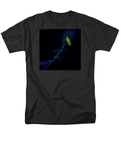 Men's T-Shirt  (Regular Fit) featuring the photograph Midnight Sunflower by Darryl Dalton