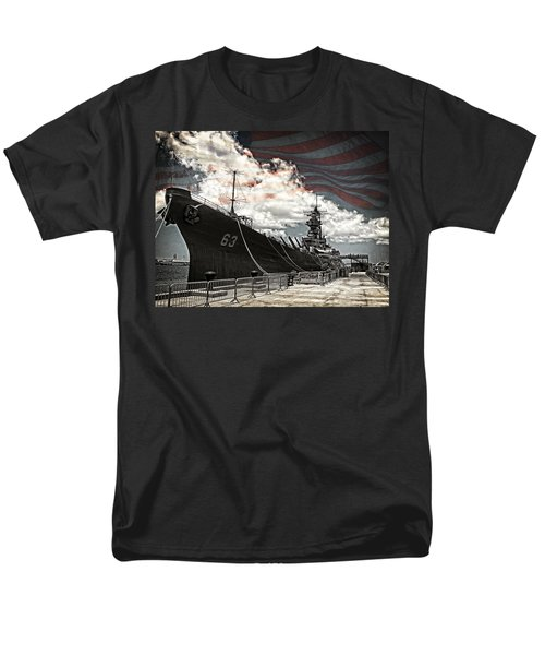 Mighty Mo U.s.s. Missouri Men's T-Shirt  (Regular Fit) by Ken Smith