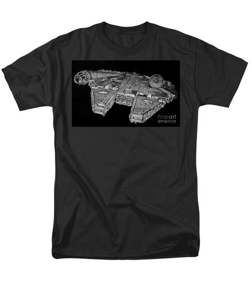 Millennium Falcon Men's T-Shirt  (Regular Fit) by Kevin Fortier