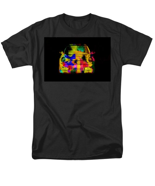Mini Cooper Colorful Abstract On Black Men's T-Shirt  (Regular Fit) by Eti Reid