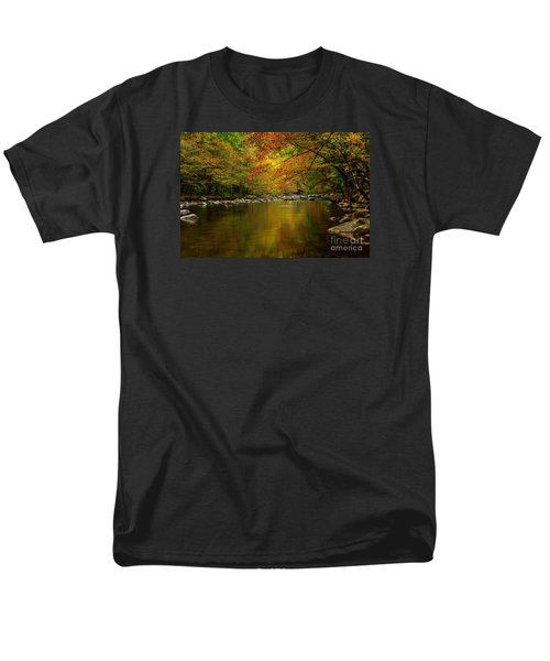 Men's T-Shirt  (Regular Fit) featuring the photograph Mirror Fall Stream In The Mountains by Debbie Green