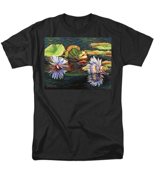 Mirrored Lilies Men's T-Shirt  (Regular Fit)