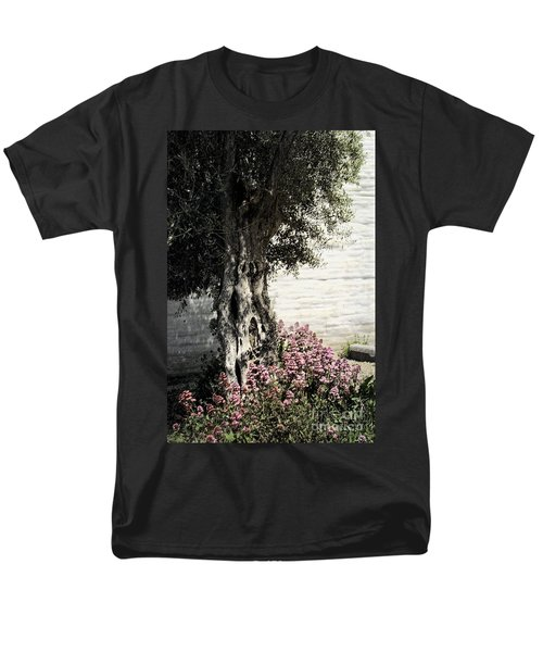 Men's T-Shirt  (Regular Fit) featuring the photograph Mission San Jose Tree Dedicated To The Ohlones by Ellen Cotton