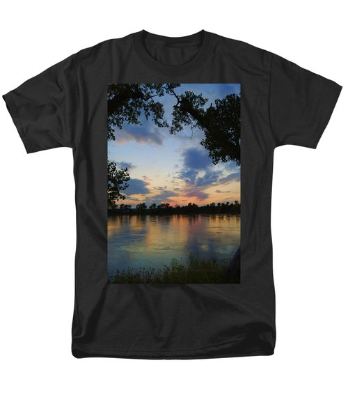 Missouri River Glow Men's T-Shirt  (Regular Fit) by Cricket Hackmann