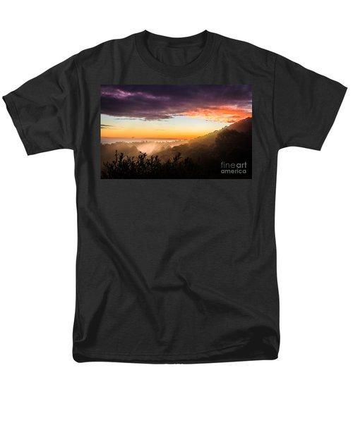 Mist Rising At Dusk Men's T-Shirt  (Regular Fit) by Peta Thames