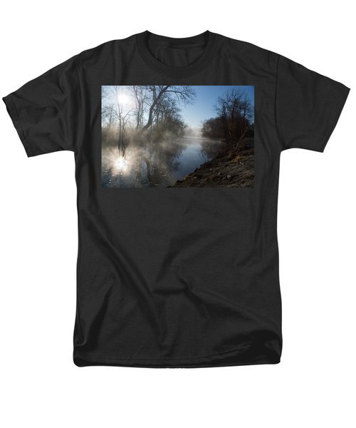 Misty Morning Along James River Men's T-Shirt  (Regular Fit) by Jennifer White
