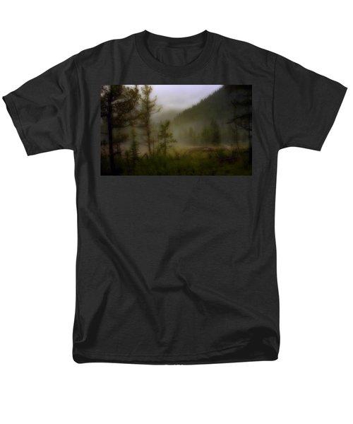 Men's T-Shirt  (Regular Fit) featuring the photograph Misty Mountain by Ellen Heaverlo