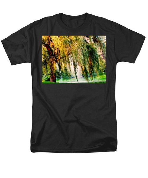 Misty Weeping Willow Tree Dreams Men's T-Shirt  (Regular Fit) by Carol F Austin