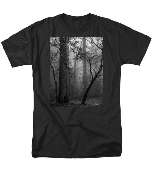 Men's T-Shirt  (Regular Fit) featuring the photograph Misty Woods by Rebecca Davis