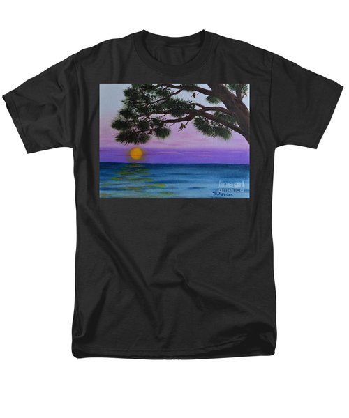 Men's T-Shirt  (Regular Fit) featuring the painting Mobile Bay Sunset by Melvin Turner