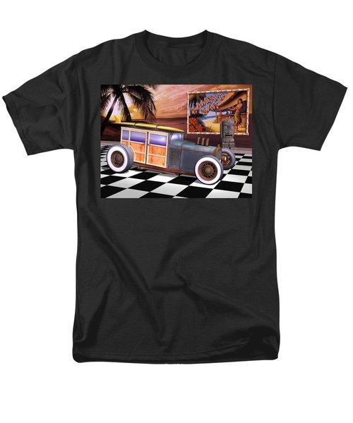 Model T Surf Woody Men's T-Shirt  (Regular Fit) by Stuart Swartz