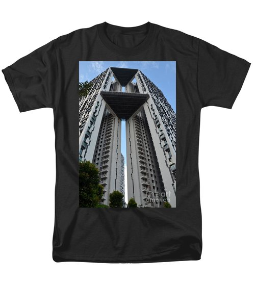 Men's T-Shirt  (Regular Fit) featuring the photograph Modern Skyscraper Apartment Building Singapore by Imran Ahmed