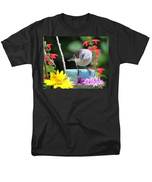 Men's T-Shirt  (Regular Fit) featuring the photograph  Mockingbird And Teacup Photo by Luana K Perez