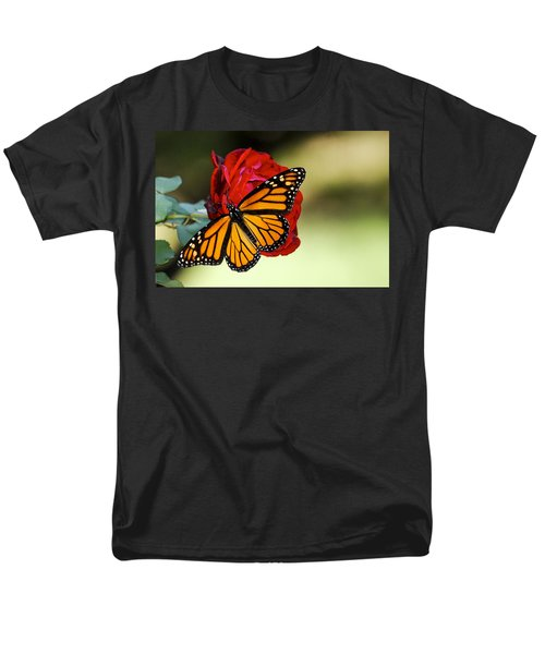 Men's T-Shirt  (Regular Fit) featuring the photograph Monarch On Rose by Debbie Karnes