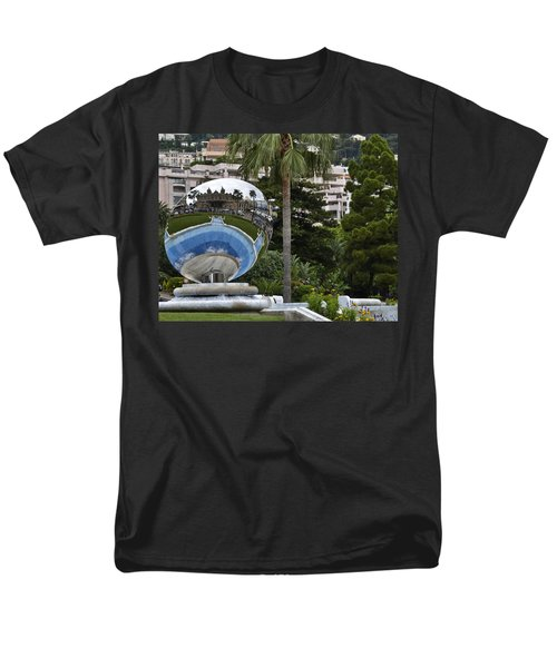 Men's T-Shirt  (Regular Fit) featuring the photograph Monte Carlo Casino In Reflection by Allen Sheffield