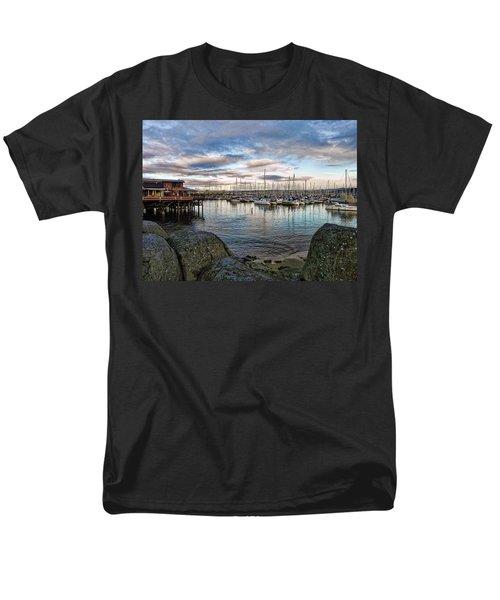 Men's T-Shirt  (Regular Fit) featuring the photograph Monterey Marina California by Kathy Churchman