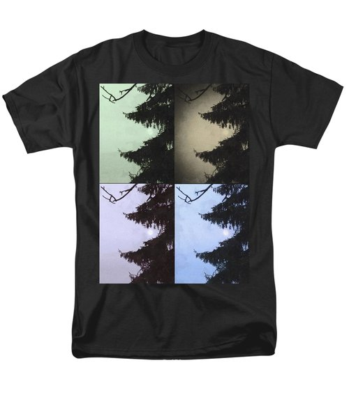 Men's T-Shirt  (Regular Fit) featuring the photograph Moon And Tree by Photographic Arts And Design Studio