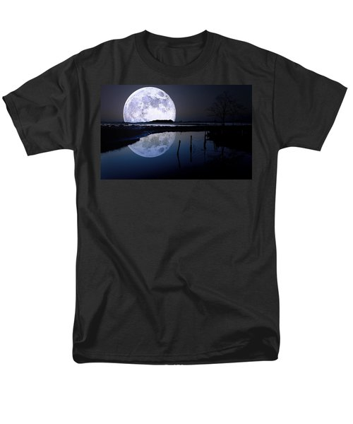Moon At Night Men's T-Shirt  (Regular Fit) by Gianfranco Weiss