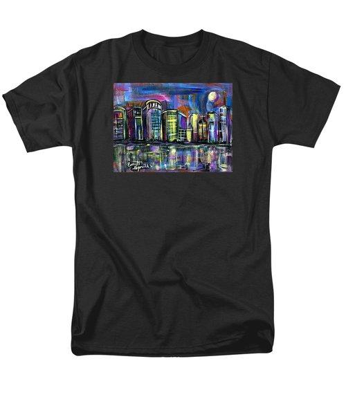 Moon Over Orlando Men's T-Shirt  (Regular Fit) by Everett Spruill