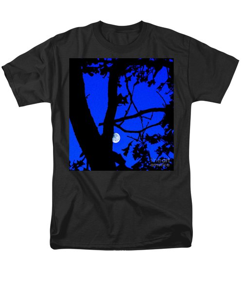 Men's T-Shirt  (Regular Fit) featuring the photograph Moon Through Trees 2 by Janette Boyd