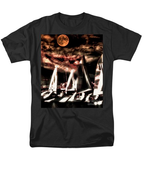 Men's T-Shirt  (Regular Fit) featuring the tapestry - textile Moonlight Cruise by Robert McCubbin