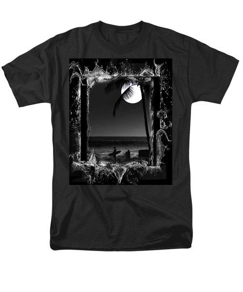 Moonlight Surf Men's T-Shirt  (Regular Fit) by Athala Carole Bruckner