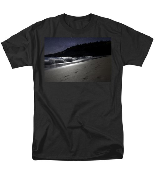 Men's T-Shirt  (Regular Fit) featuring the photograph Moonshine Beach by Brent L Ander