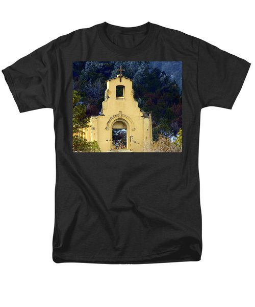 Men's T-Shirt  (Regular Fit) featuring the photograph Mountain Mission Church by Barbara Chichester