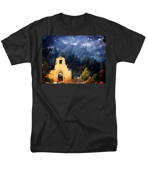Men's T-Shirt  (Regular Fit) featuring the photograph Morley Mission 1917 Colorado by Barbara Chichester
