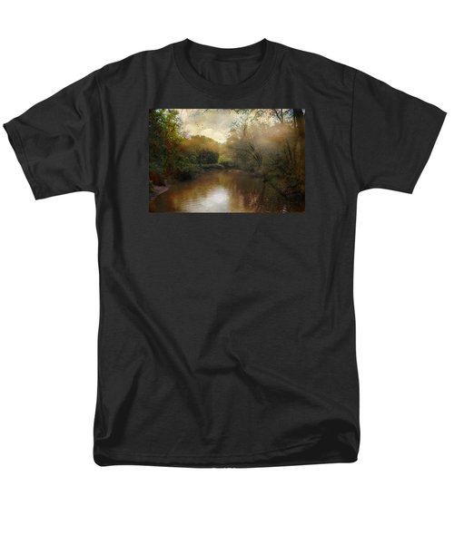 Men's T-Shirt  (Regular Fit) featuring the photograph Morning At The River by John Rivera