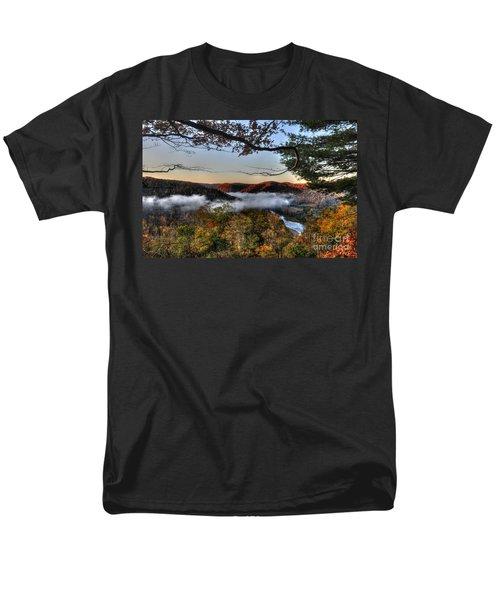 Morning Cheat River Valley Men's T-Shirt  (Regular Fit) by Dan Friend