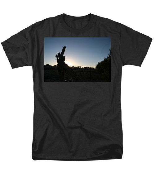 Men's T-Shirt  (Regular Fit) featuring the pyrography Morning by David S Reynolds