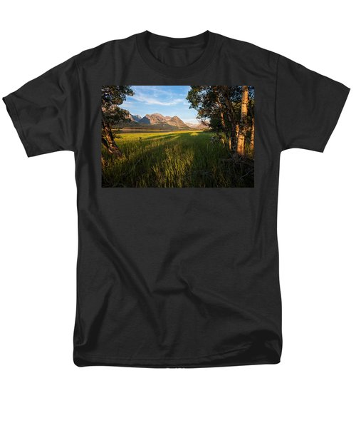 Men's T-Shirt  (Regular Fit) featuring the photograph Morning In The Mountains by Jack Bell