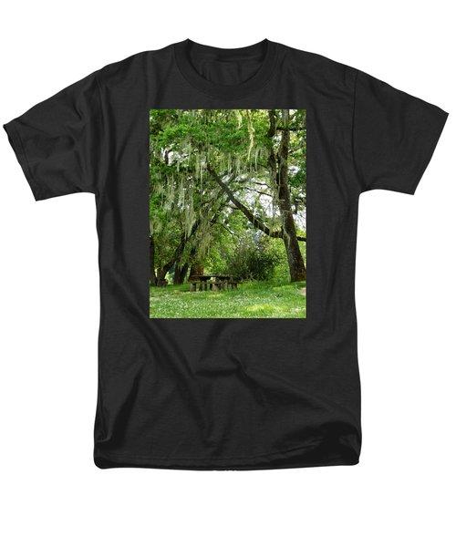 Men's T-Shirt  (Regular Fit) featuring the photograph Moss Drapery by VLee Watson