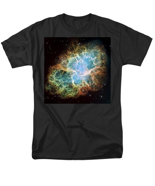 Most Detailed Image Of The Crab Nebula Men's T-Shirt  (Regular Fit) by Adam Romanowicz