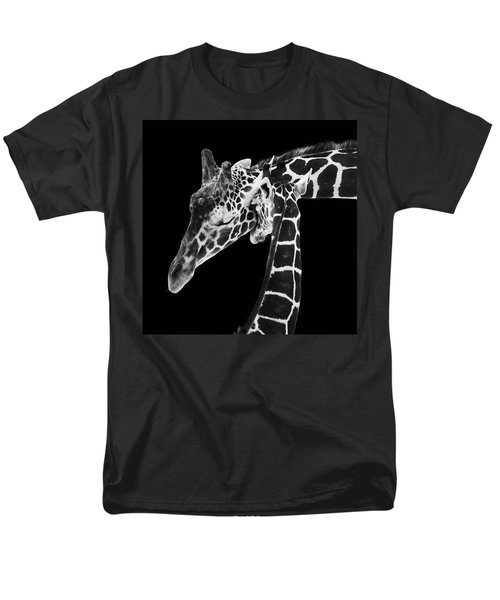 Mother And Baby Giraffe Men's T-Shirt  (Regular Fit) by Adam Romanowicz