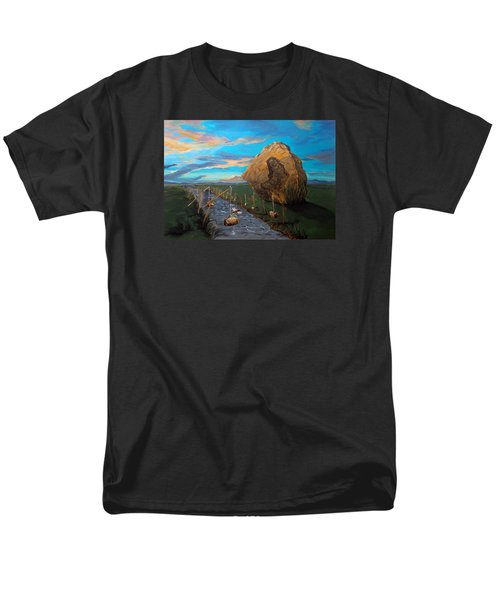 Men's T-Shirt  (Regular Fit) featuring the painting Mother Of Anguishes  by Lazaro Hurtado