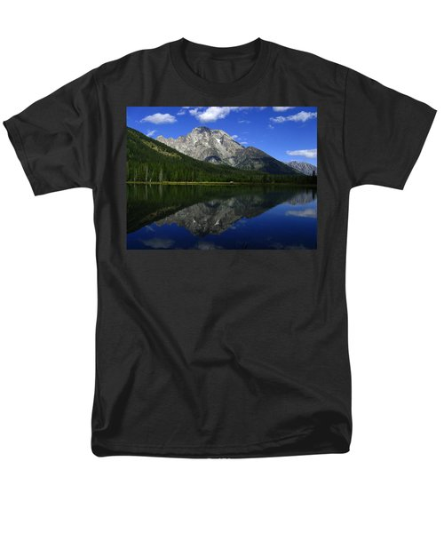 Men's T-Shirt  (Regular Fit) featuring the photograph Mount Moran And String Lake by Raymond Salani III