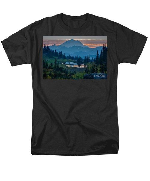 Mount Rainier Layers Men's T-Shirt  (Regular Fit) by Mike Reid
